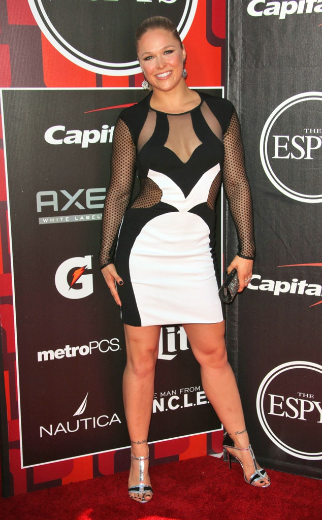 Ronda Rousey From 2015 Espy Awards Red Carpet Arrivals E