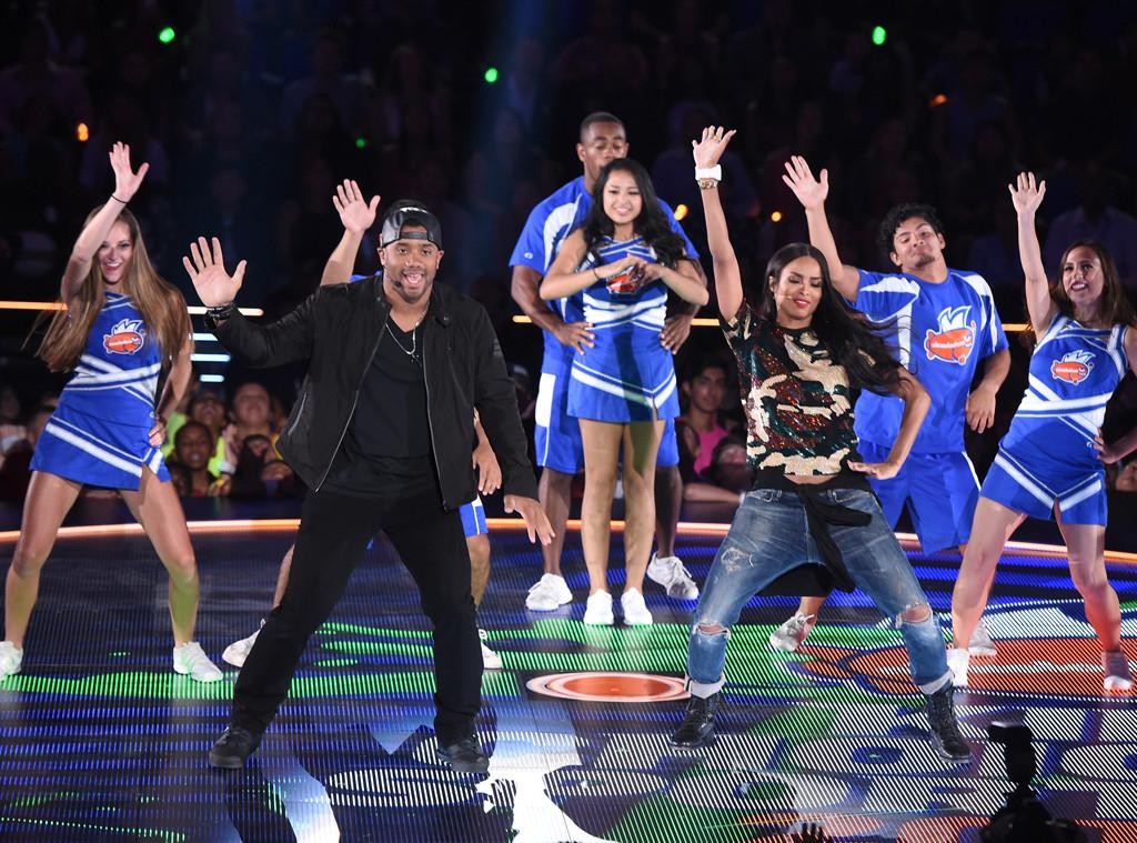 Russell Wilson, Ciara, Nickelodeon Kids' Choice Sports Awards