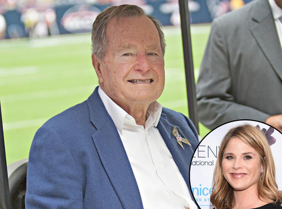 President George H.W. Bush, Jenna Bush Hager