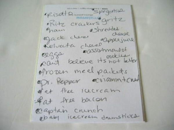 Britney Spears Shopping List