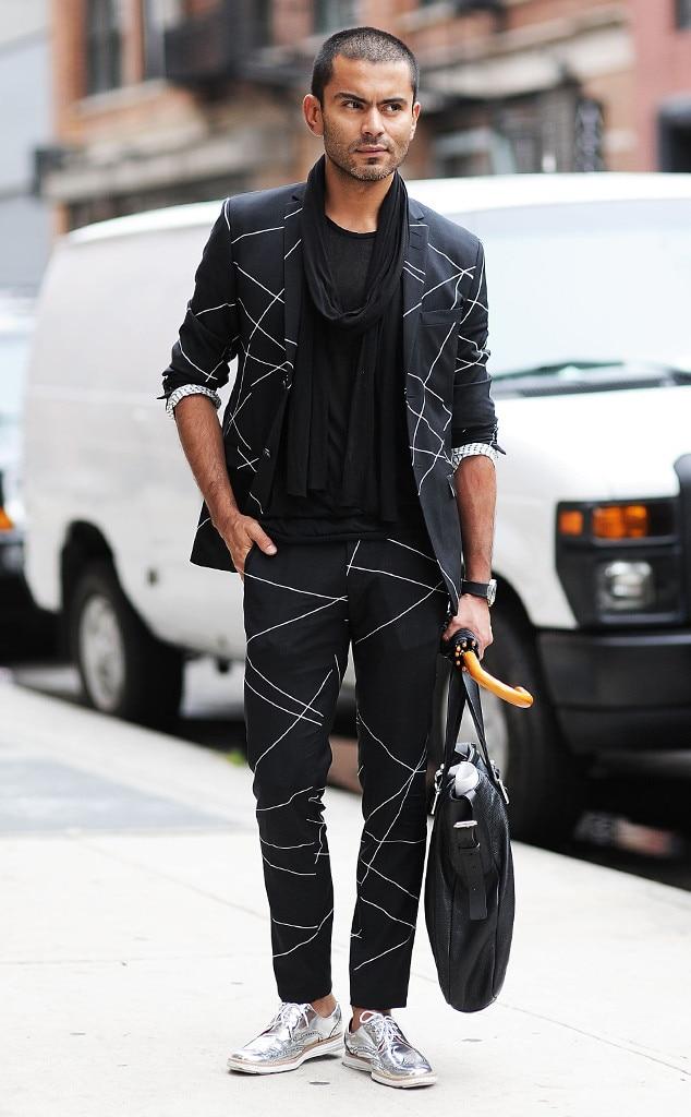 Jorge Rios From Men's Fashion Week Street Style