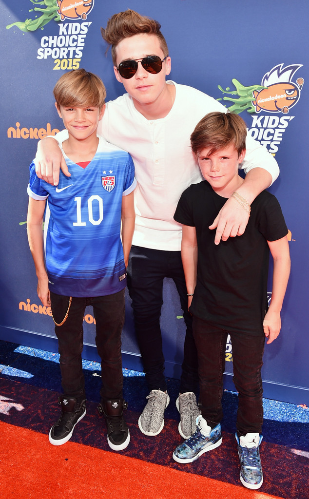 Brooklyn Beckham, Romeo Beckham, Cruz Beckham, Nickelodeon Kids' Choice Sports Awards