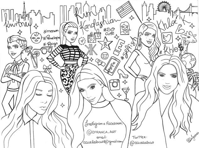Livro de Colorir: O Jardim Secreto das Kardashians | E! News