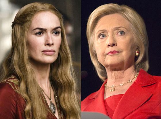 Hillary Clinton, Cersei Lannister, Lena Headey