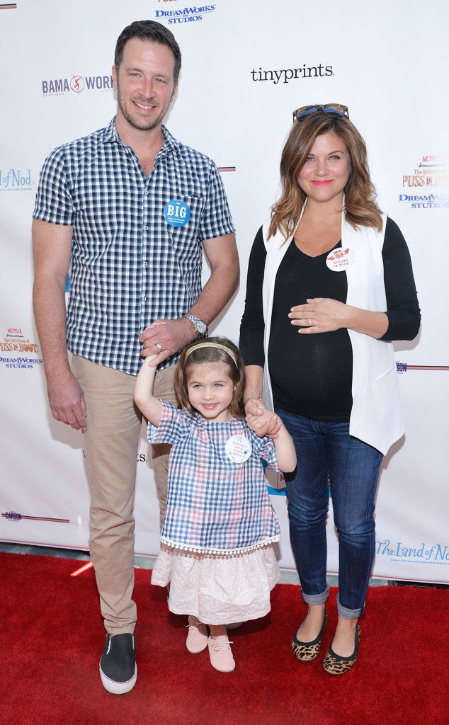 Tiffani Thiessen, Brady Smith, Harper Renn Smith