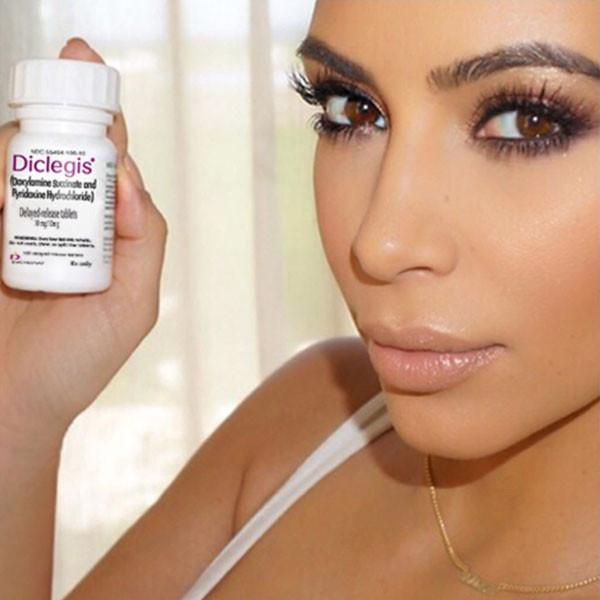 Kim Kardashian, Diclegis, Instagram