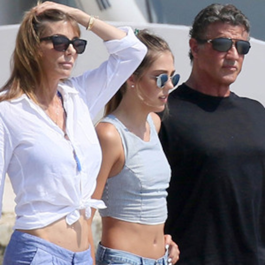 See Sylvester Stallone's Gorgeous Daughters Stun in Crop ...