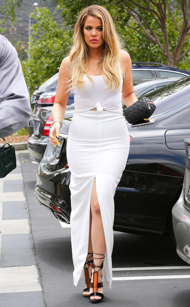 Khloe Kardashian Steps Out In Skintight And Sexy White Dress After