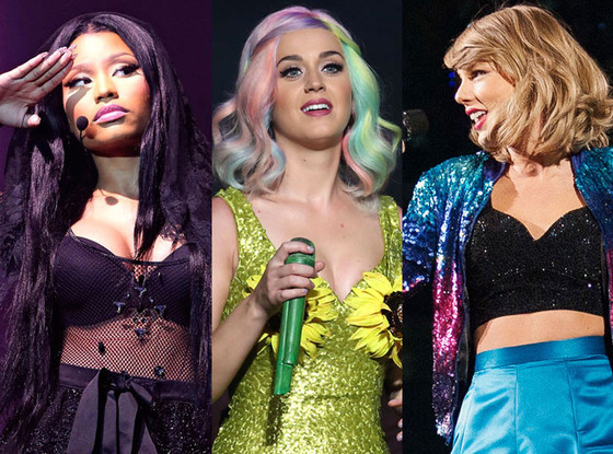Nicki Minaj, Taylor Swift, Katy Perry