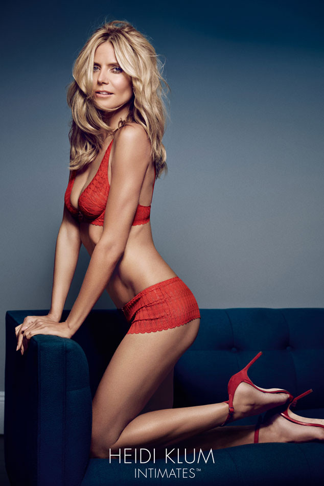 b183a658956c1 Heidi Klum Strips for New Lingerie Shoot—See the Sexy Ads! | E! News