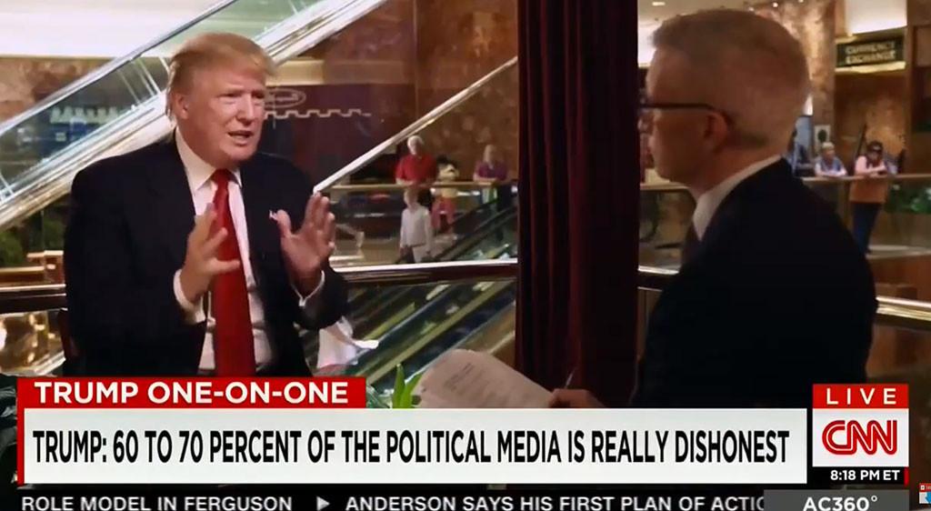 Donald Trump, Anderson Cooper