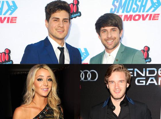 VidCon youtube celebs, Smosh, Jenna Marbles, PewDiePie