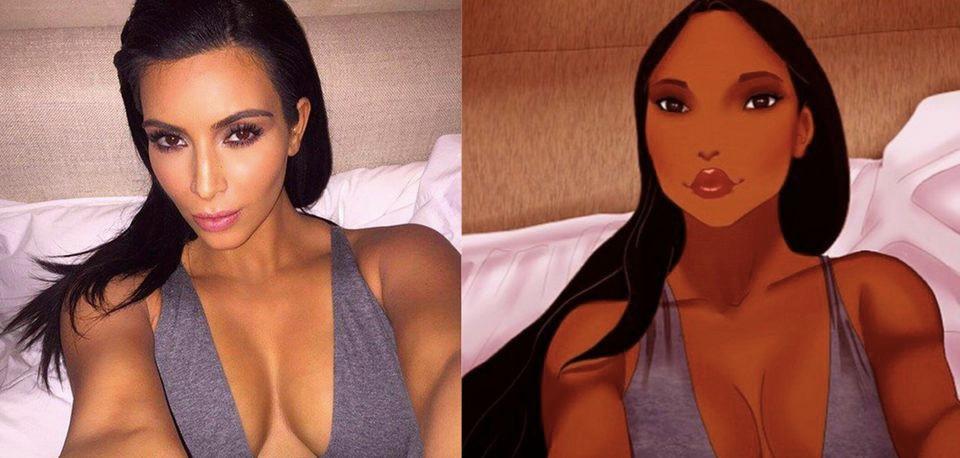 Princesas Disney Kardashian