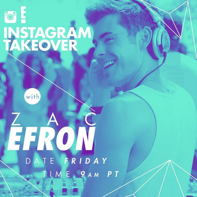 Zac Efron, Instagram Takeover Gallery