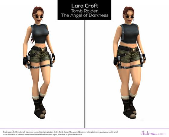 Lara Croft, Bikini Girl, Jade, Bulimia.com