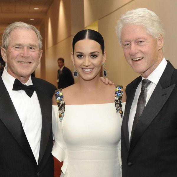 Katy Perry, George Bush, Bill Clinton