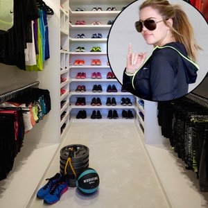 Khloé Kardashianu0027s Fitness Closet Has Everything U0026 Then Someu2014See Her Epic  Workout Wardrobe! | E! News