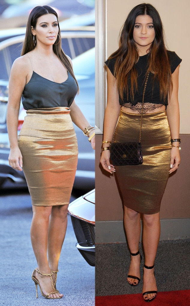 Go For The Gold From Every Time Kylie Jenner Has Dressed Exactly Like Kim Kardashian