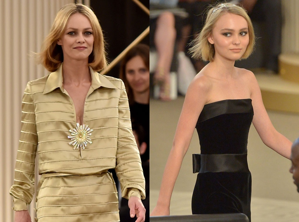 Lily-Rose Depp & Vanessa Paradis -  The mother-daughter pair looked like virtual  twinsies  (especially with those matching bobs) at the Chanel fall-winter Haute Couture show in Paris.