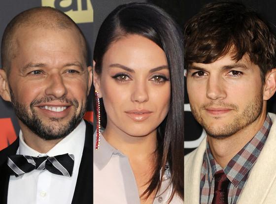Jon Cryer, Ashton Kutcher, Mila Kunis