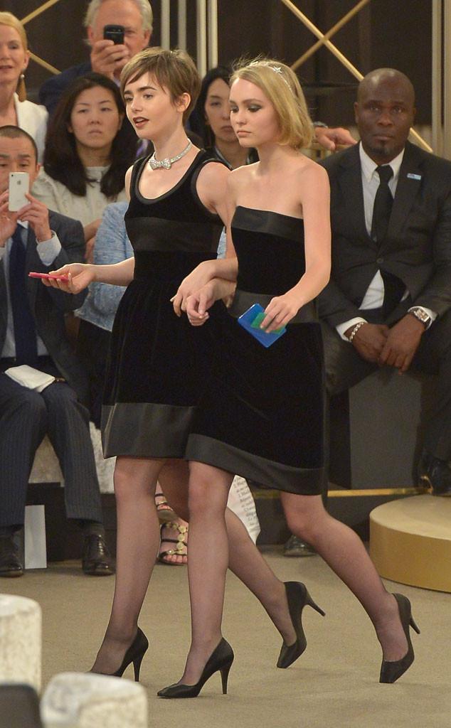 Lily-Rose Depp, Lily Collins, Paris Fashion Week Haute Couture