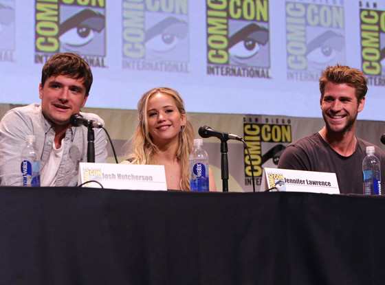 Josh Hutcherson, Jennifer Lawrence, Liam Hemsworth, Comic-Con