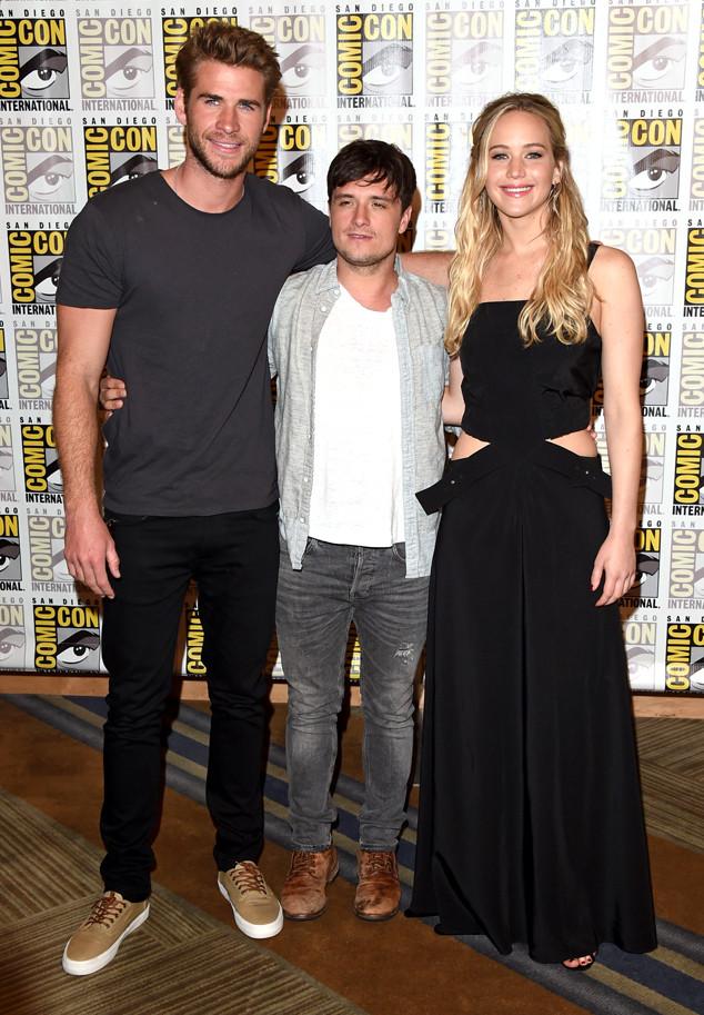Jennifer Lawrence, Liam Hemsworth, Josh Hutcherson, Comic-Con