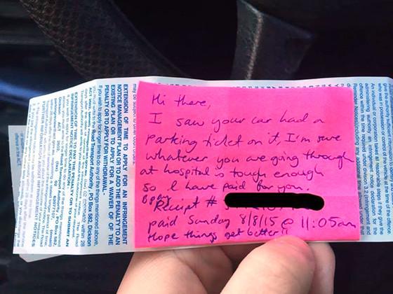 Hospital Parking Ticket