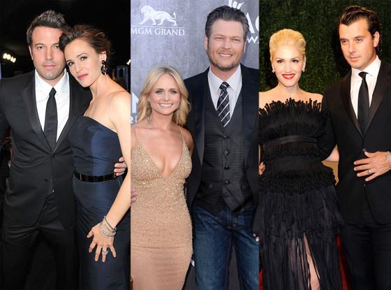 Ben Affleck, Jennifer Garner, Miranda Lambert, Blake Shelton, Gwen Stefani, Gavin Rossdale