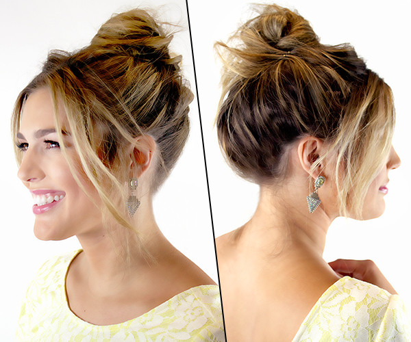 how to make hair style bun frizzy hair don t care how to style the bun 5146
