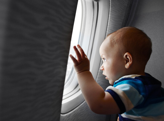 Baby on an Airplane