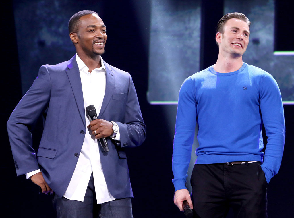 Anthony Mackie, Chris Evans, D23 Expo