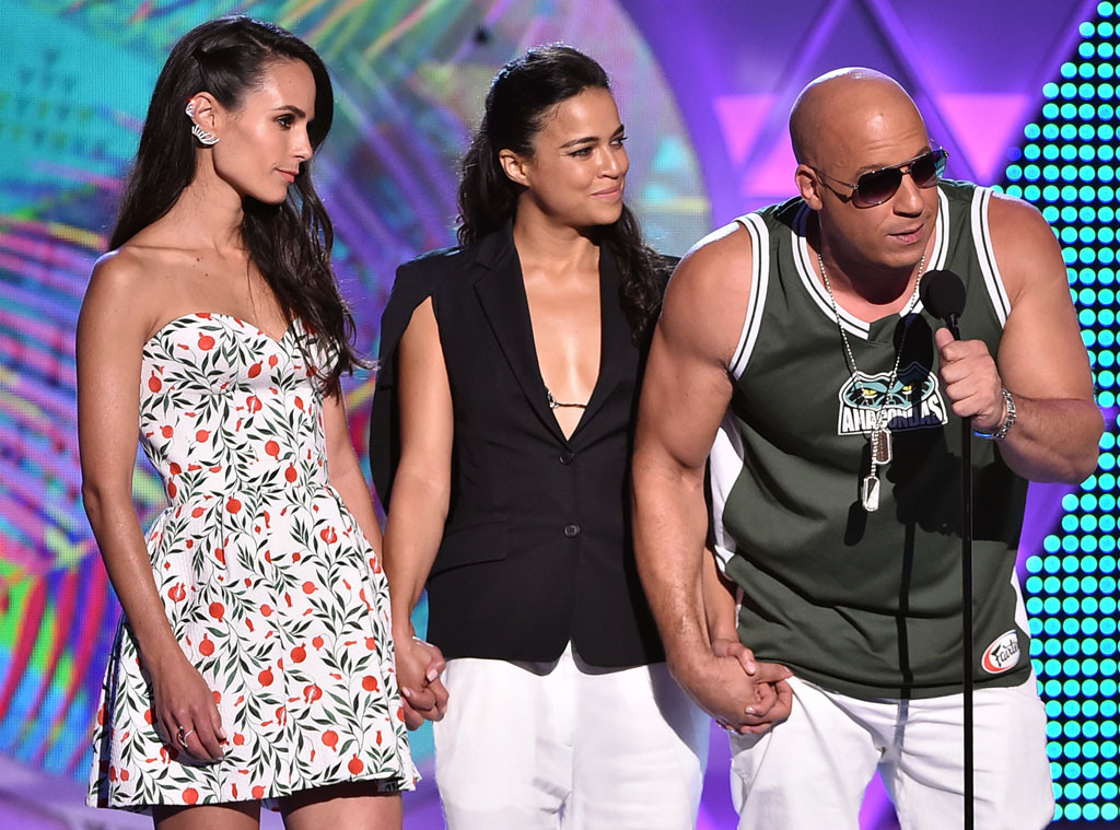 Jordana Brewster, Michelle Rodriguez, Vin Diesel, Teen Choice Awards 2015