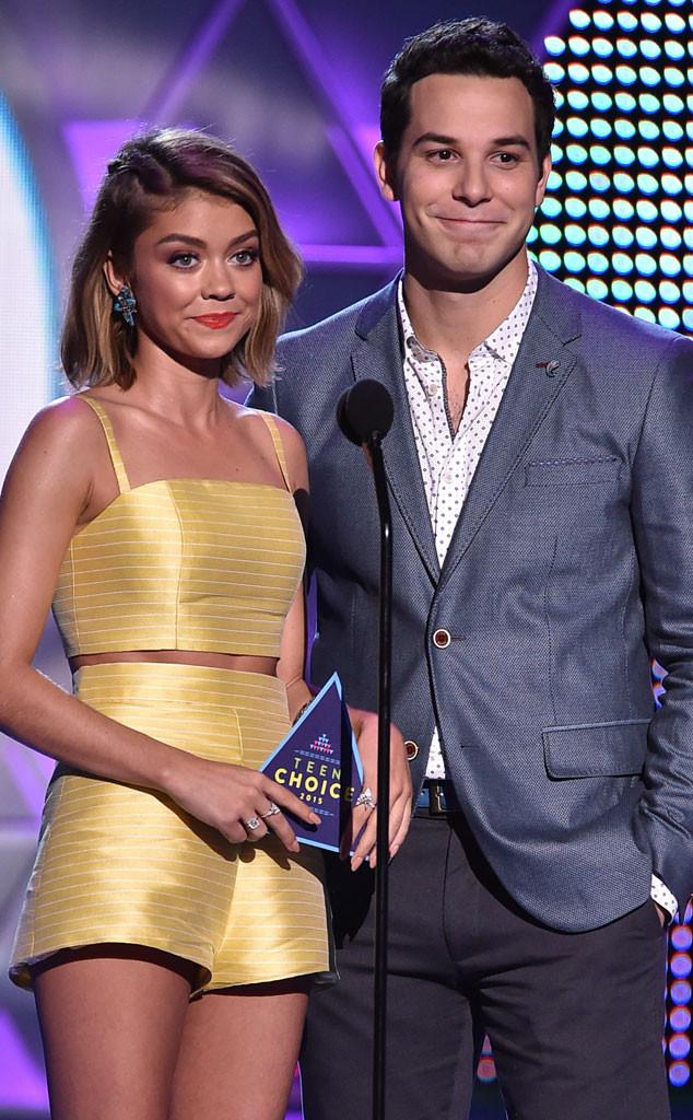 Sarah Hyland, Skylar Astin, 2015 Teen Choice Awards