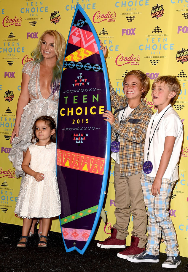 Britney Spears, Sean Preston Federline, Jayden James Federline, Teen Choice Awards 2105, Lexie