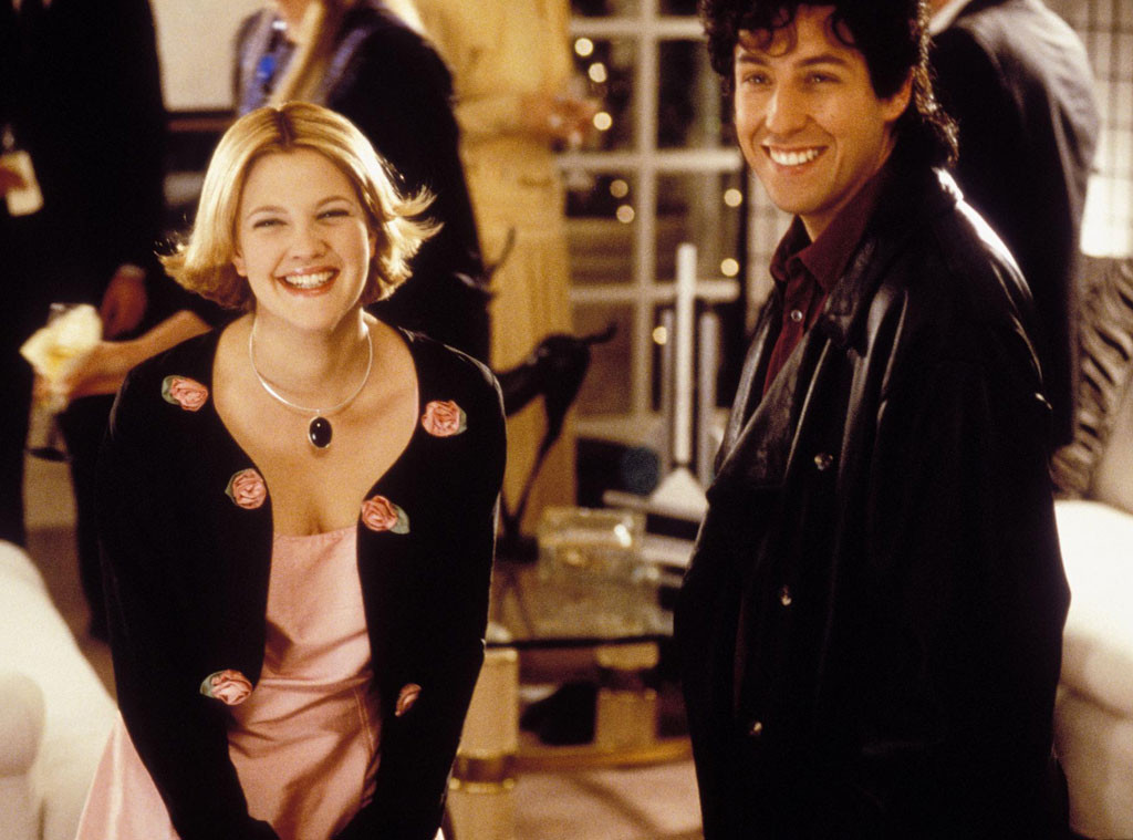 90s Movies Couples, The Wedding Singer, Adam Sandler, Drew Barrymore