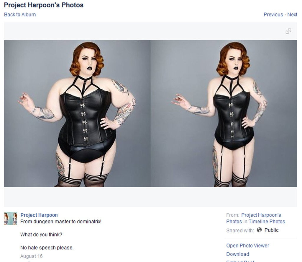Project Harpoon Disgustingly Photoshops Women To Look Thinner. Women Respond Brilliantly picture