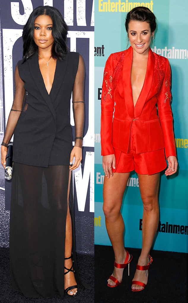 Best of Summer Trends, Tuxedo Dresses v. Red Blazers