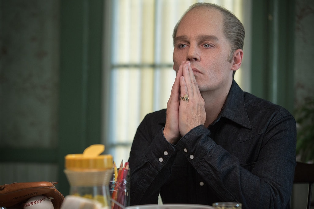 Black Mass  -  A nearly unrecognizable  Johnny Depp  appears alongside  Benedict Cumberbatch ,  Kevin Bacon  and more in the 2015 drama following ruthless mobster Whitey Bulger.