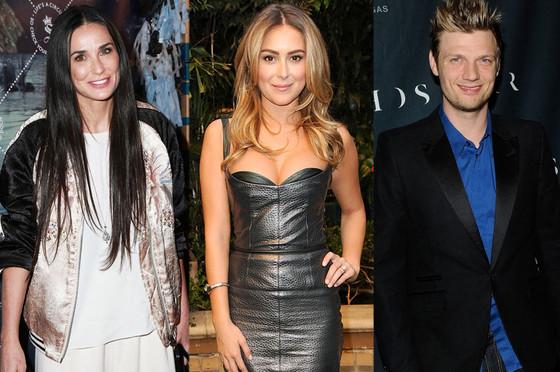 Demi Moore, Alexa Vega, Nick Carter