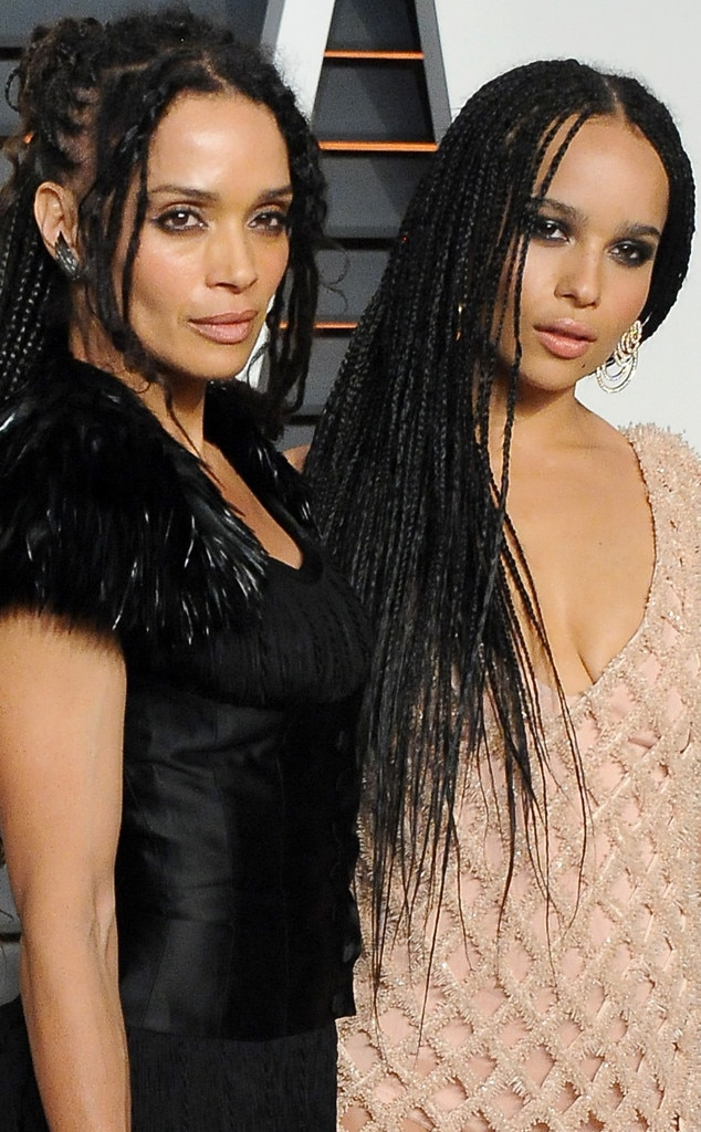 Lisa Bonet & Zoe Kravitz -  The two looked nearly identical at the  Vanity Fair Oscars party in 2015.