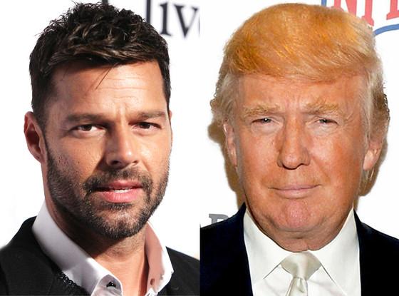 Donald Trump, Ricky Martin
