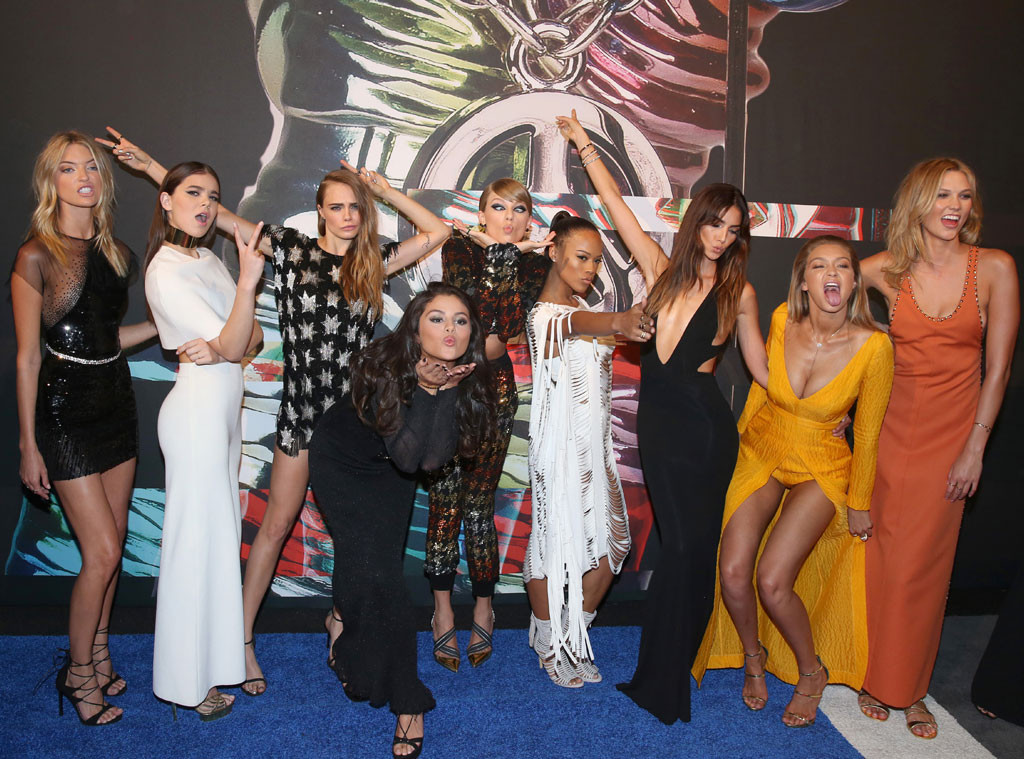 Squad, Gigi Hadid, Taylor Swift, Serayah, Mariska Hargitay, Lily Aldridge, Karlie Kloss, MTV Video Music Awards, VMA