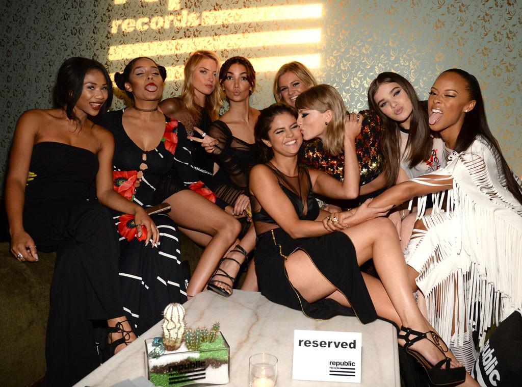 Martha Hunt, Lily Aldridge, Selena Gomez, Taylor Swift, Hailee Steinfeld, Serayah McNeill