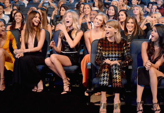 Models Martha Hunt, Lily Aldridge, Gigi Hadid, Karlie Kloss, Mariska Hargitay, Taylor Swift