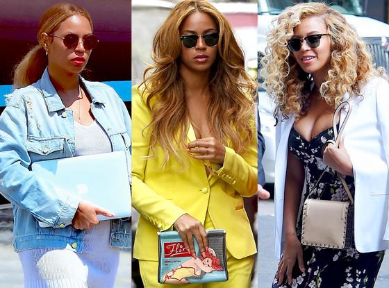 Todos os objetos que Beyoncé usou para esconder a barriga