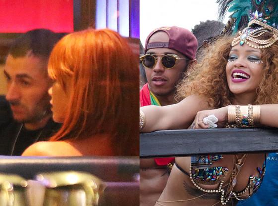 Rihanna, Karim Benzema, Lewis Hamilton