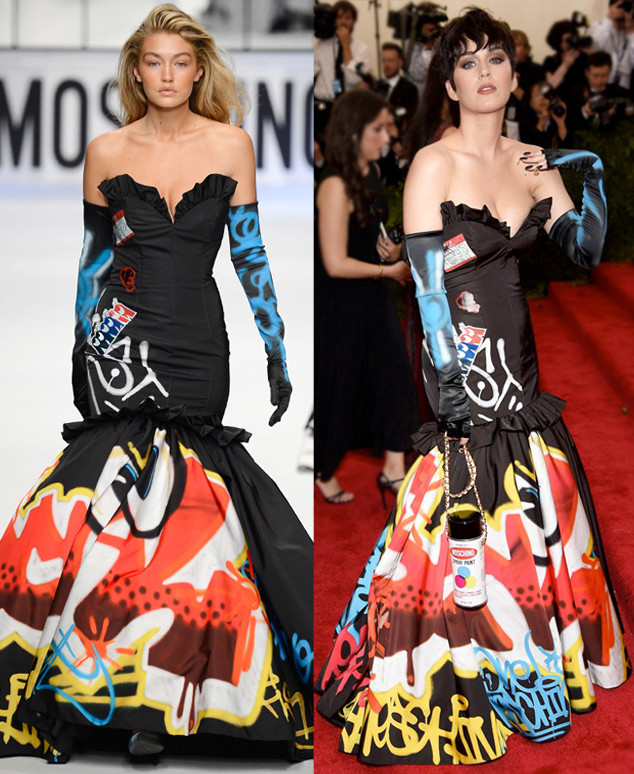 Gigi Hadid, Katy Perry, Moschino