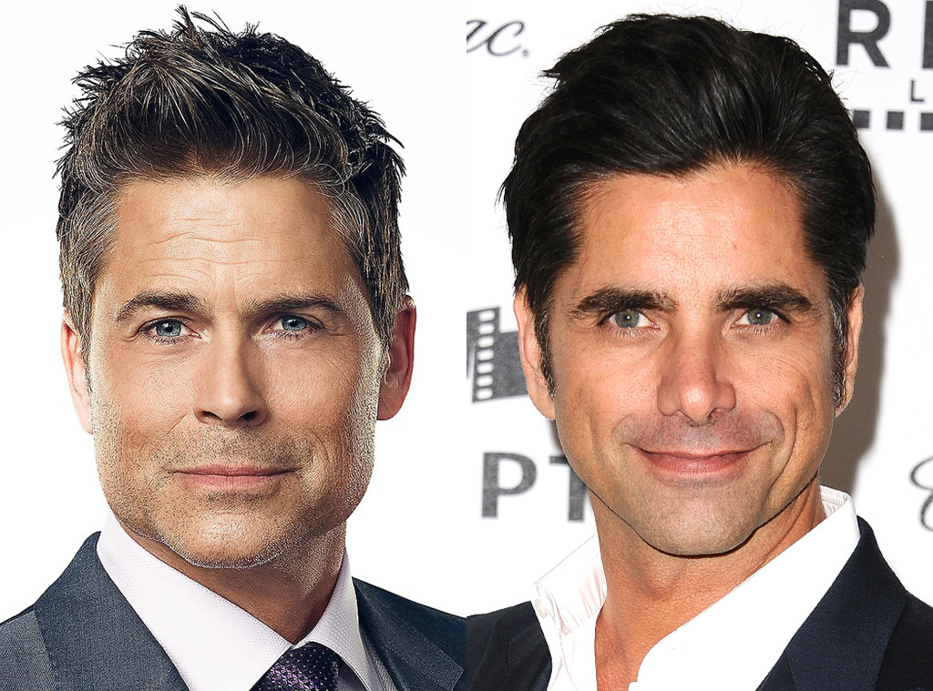 """Hottest. Couple. Ever: Rob Lowe and John Stamos Reveal They """"Dated for  Years"""" - E! Online"""
