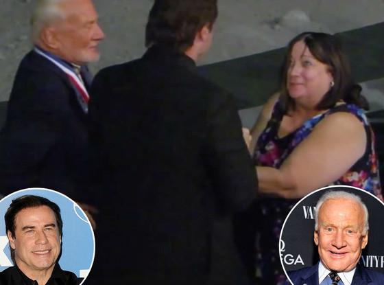 John Travolta, Buzz Aldrin, Mary Matulka